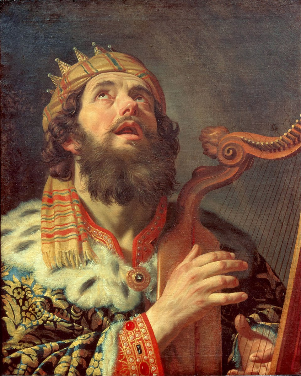 Gerard van Honthorst - King David Playing the Harp - Google Art Project